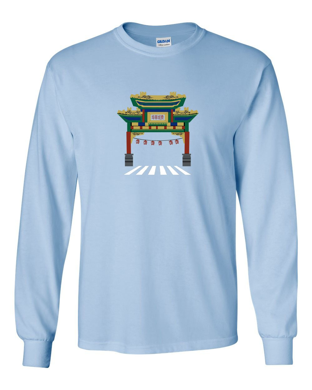 Chinatown MENS Long Sleeve Heavy Cotton T-Shirt