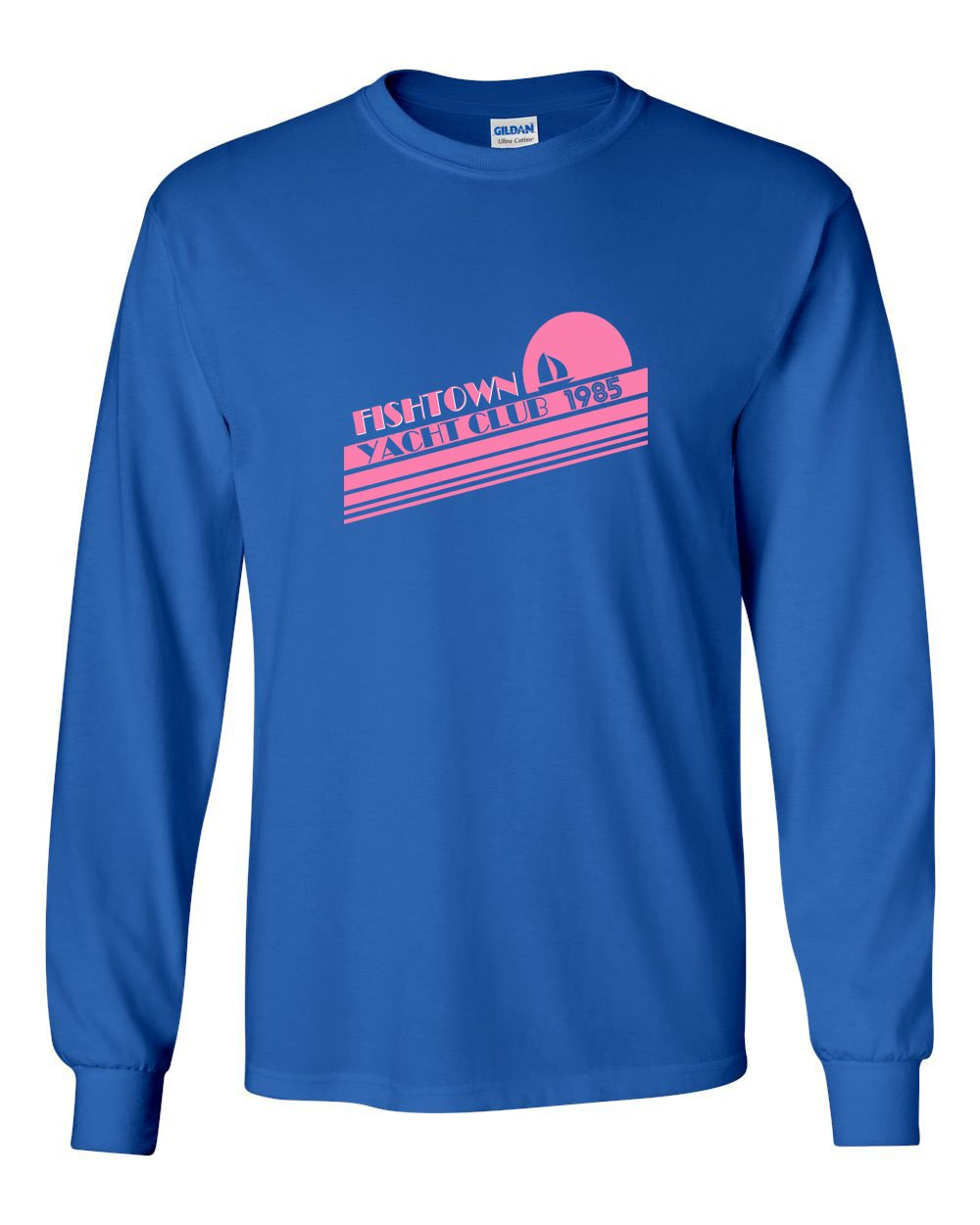 Fishtown Yacht Club MENS Long Sleeve Heavy Cotton T-Shirt