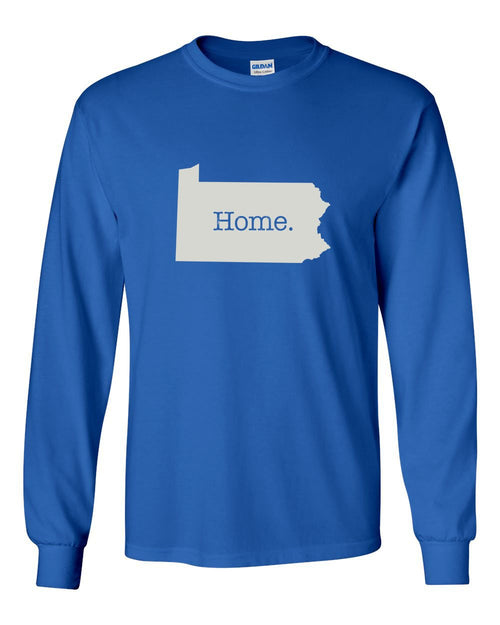 PA Home MENS Long Sleeve Heavy Cotton T-Shirt