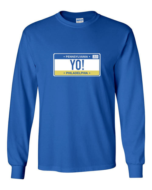 Yo Philly! MENS Long Sleeve Heavy Cotton T-Shirt