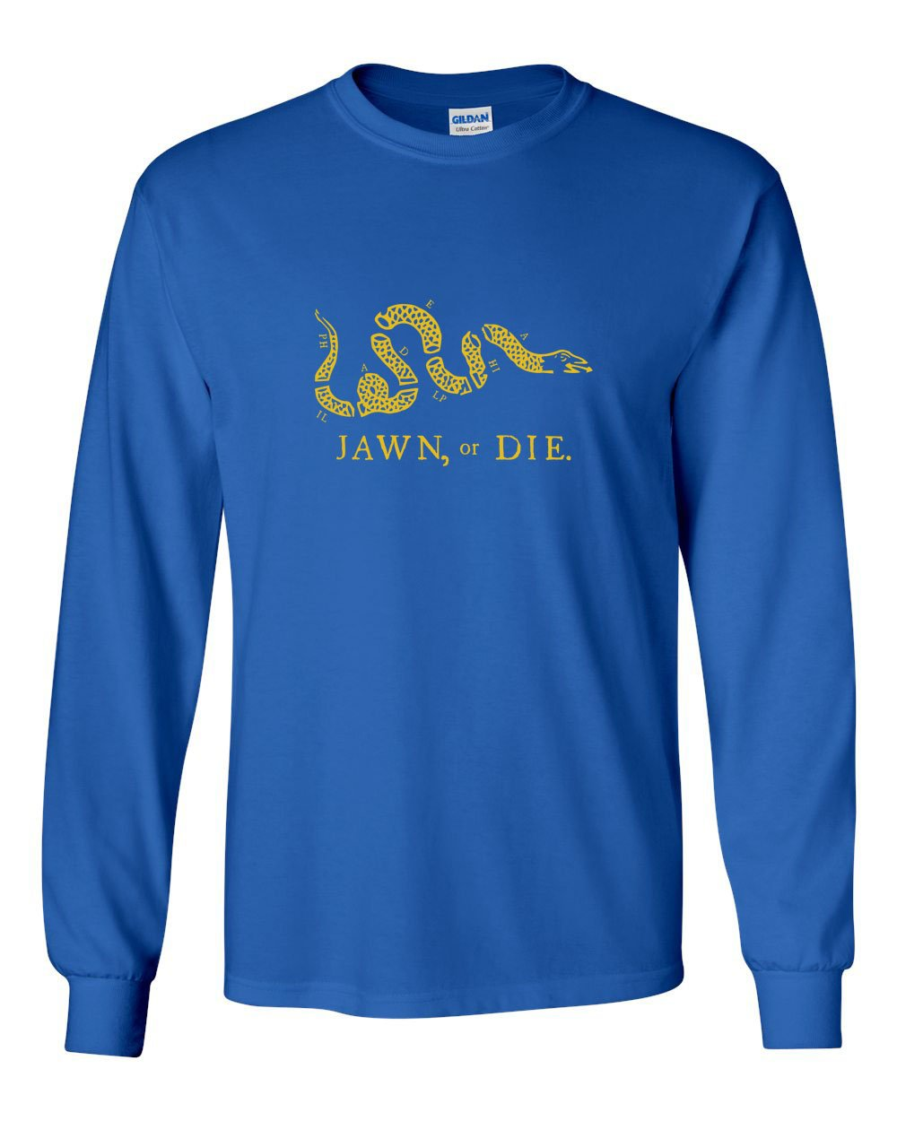 Jawn or Die Yellow Ink MENS Long Sleeve Heavy Cotton T-Shirt