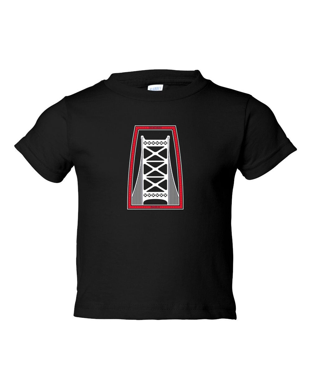 Ben Franklin Bridge Red & White Ink TODDLER T-Shirt