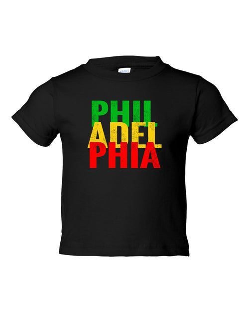 Rasta Philly Letters TODDLER T-Shirt