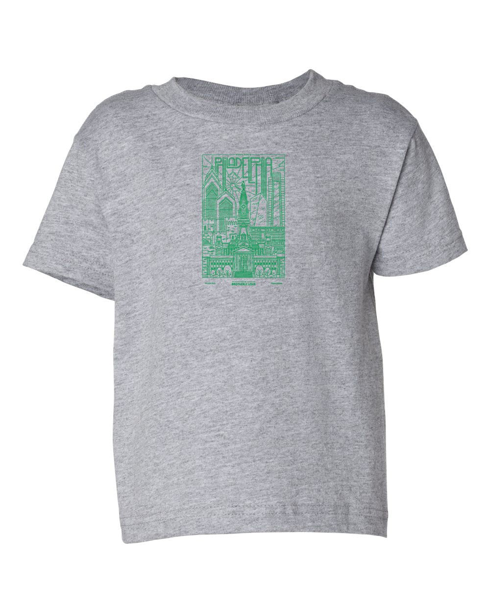 Philadelphia Skyline V2 (Green Ink) TODDLER T-Shirt