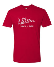 Jawn or Die White Ink (Baseball) Mens/Unisex T-Shirt