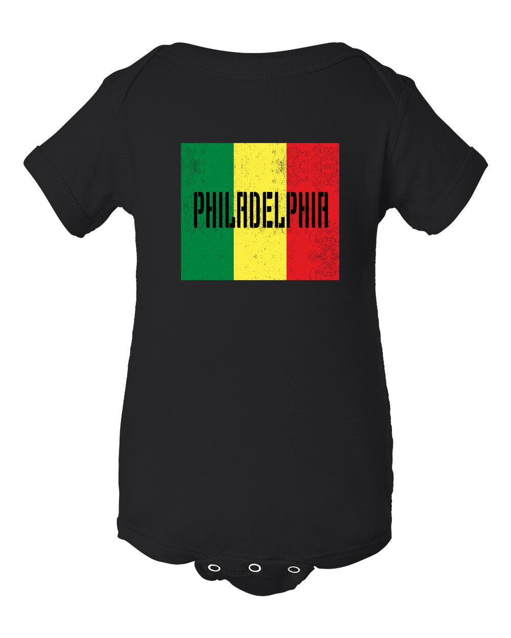 Rasta Philly Flag INFANT Onesie