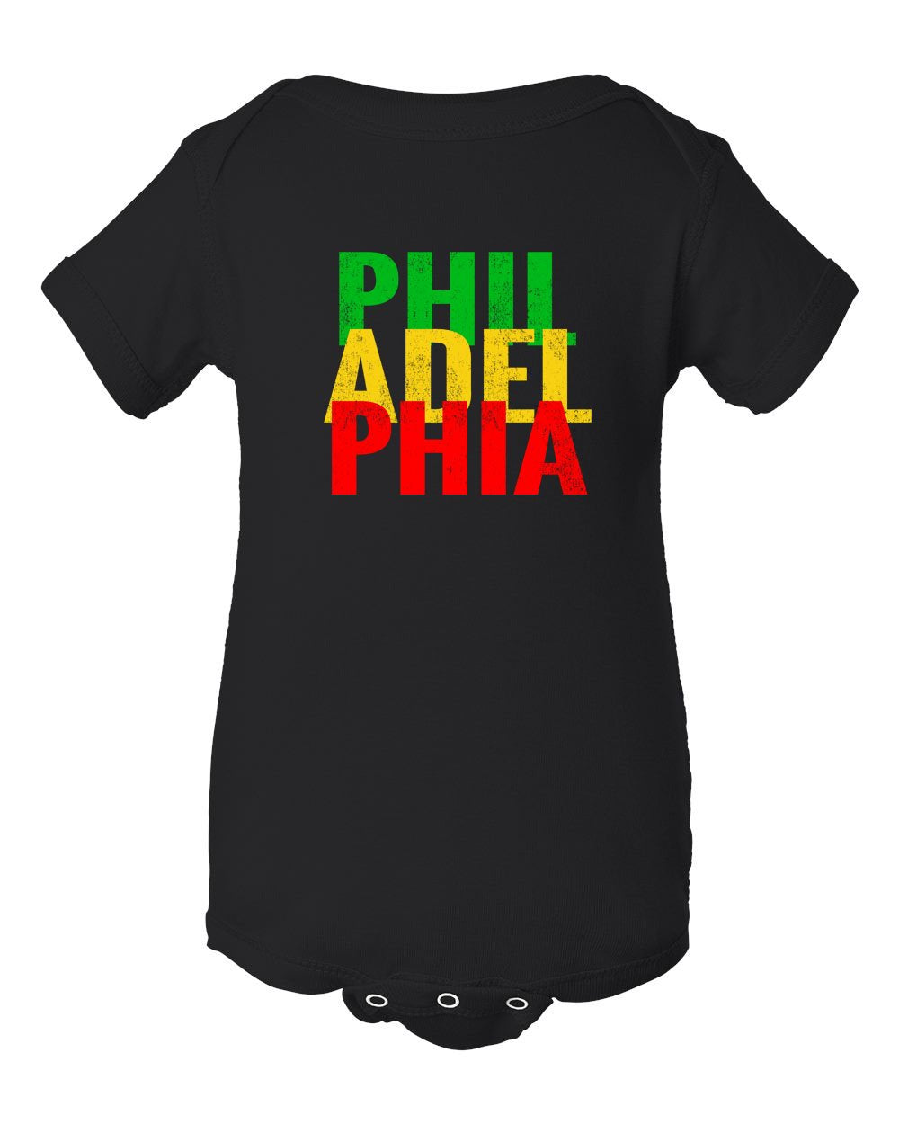 Rasta Philly Letters INFANT Onesie