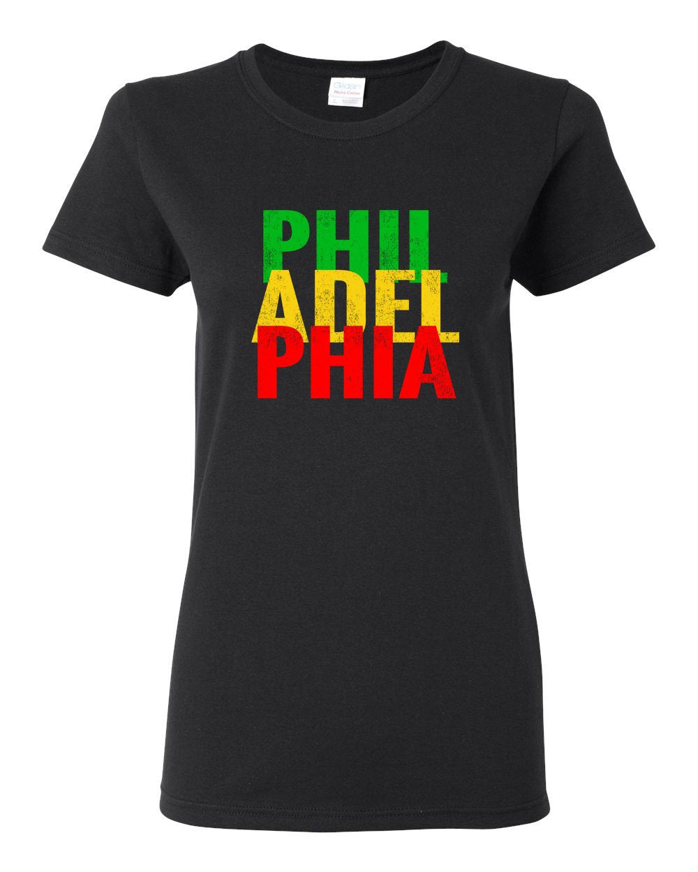 Rasta Philly Letters LADIES Missy-Fit T-Shirt