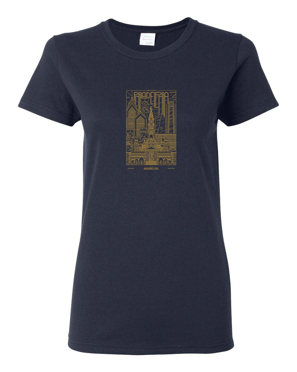 Philadelphia Skyline V2 (Soccer) LADIES Missy-Fit T-Shirt