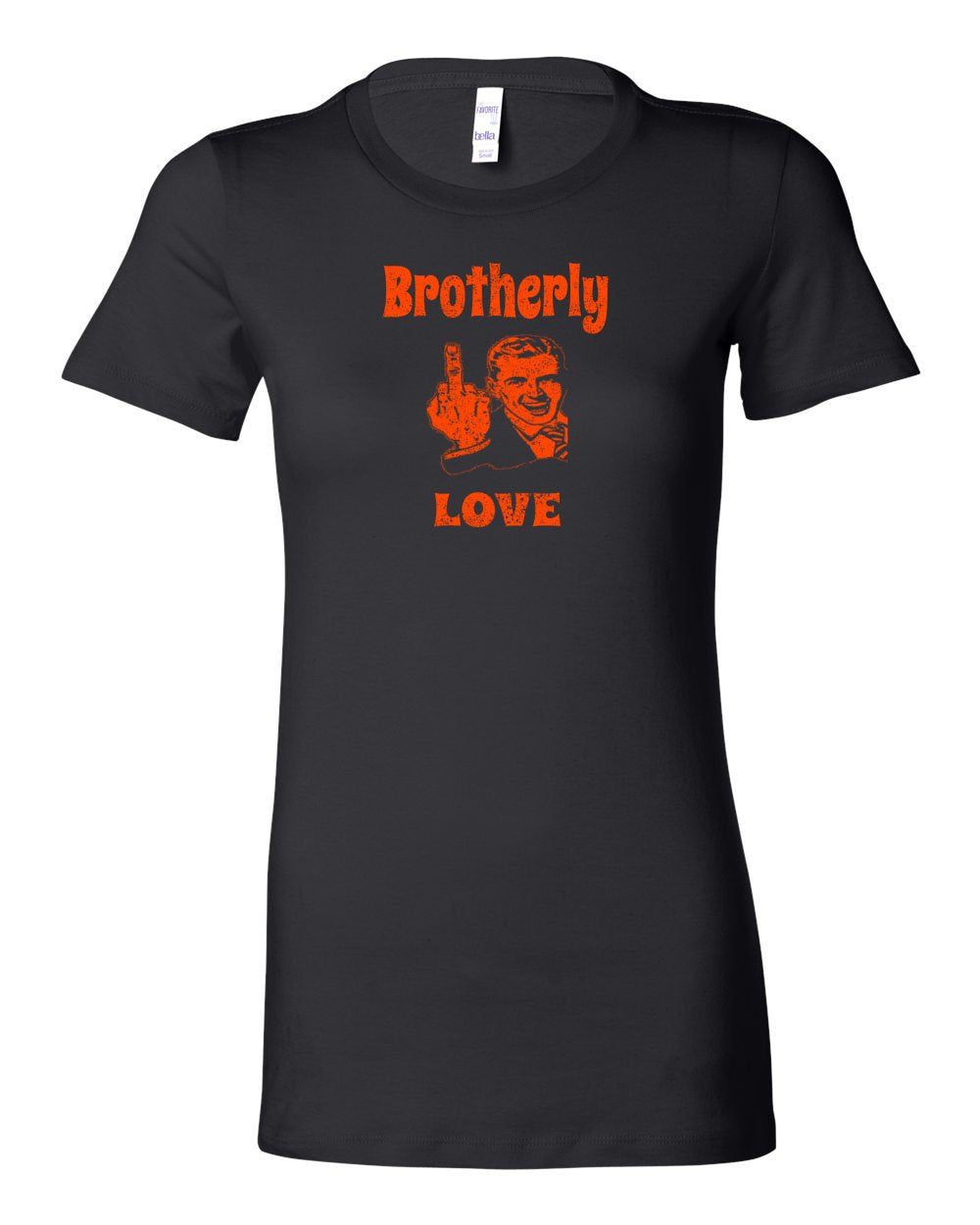 Brotherly Finger Orange Ink LADIES Junior-Fit T-Shirt