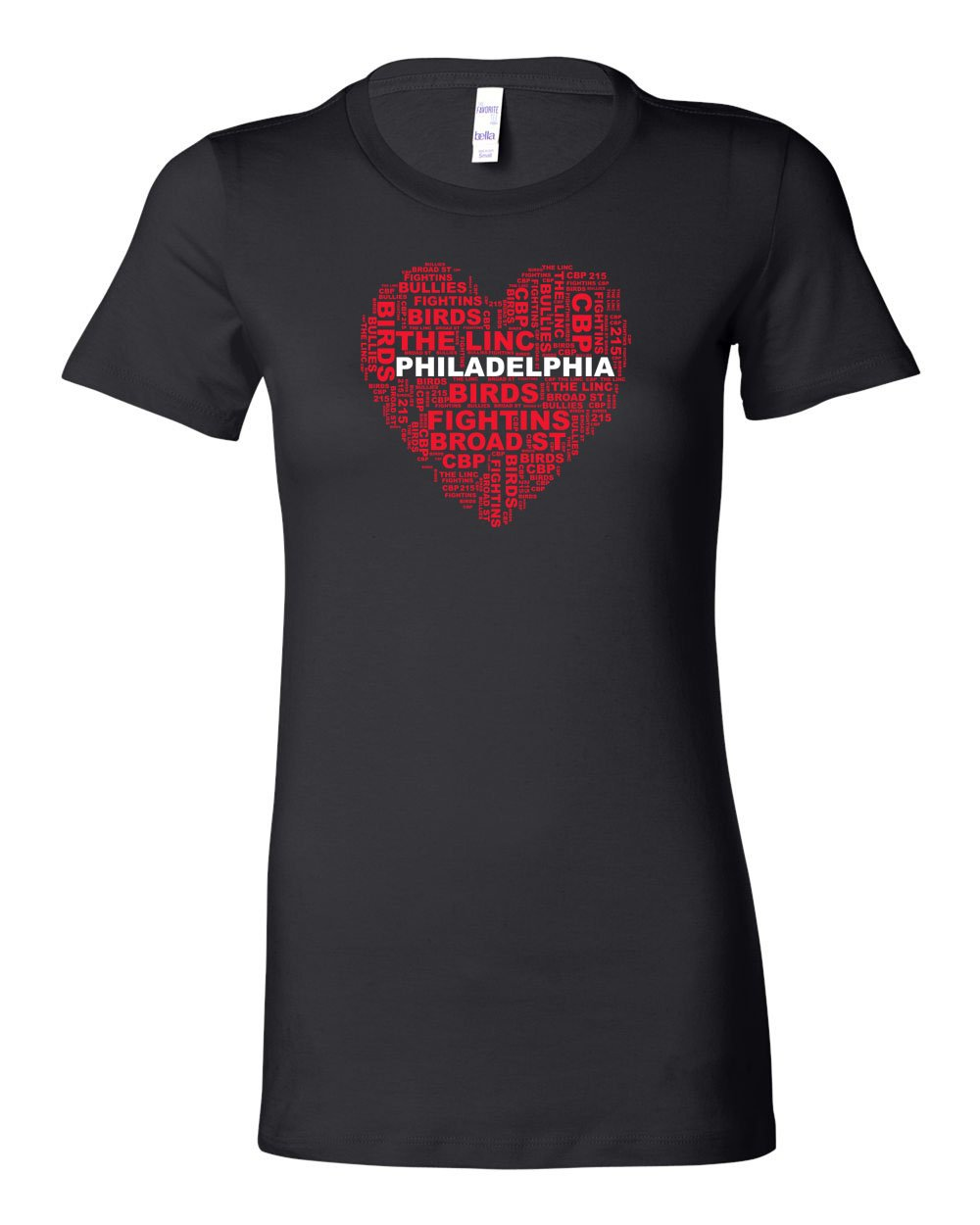 Philly Heart LADIES Junior-Fit T-Shirt