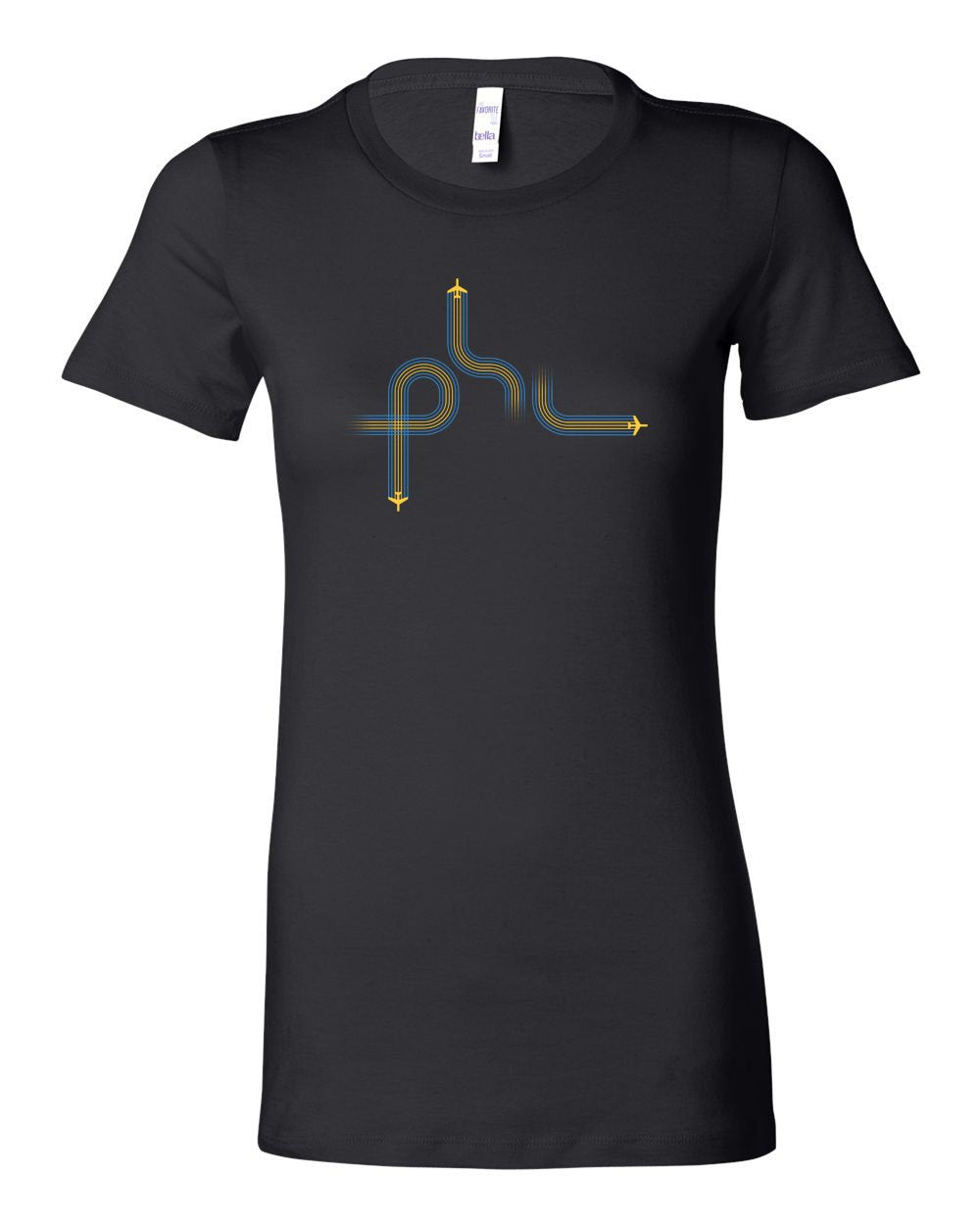 PHL Planes LADIES Junior-Fit T-Shirt