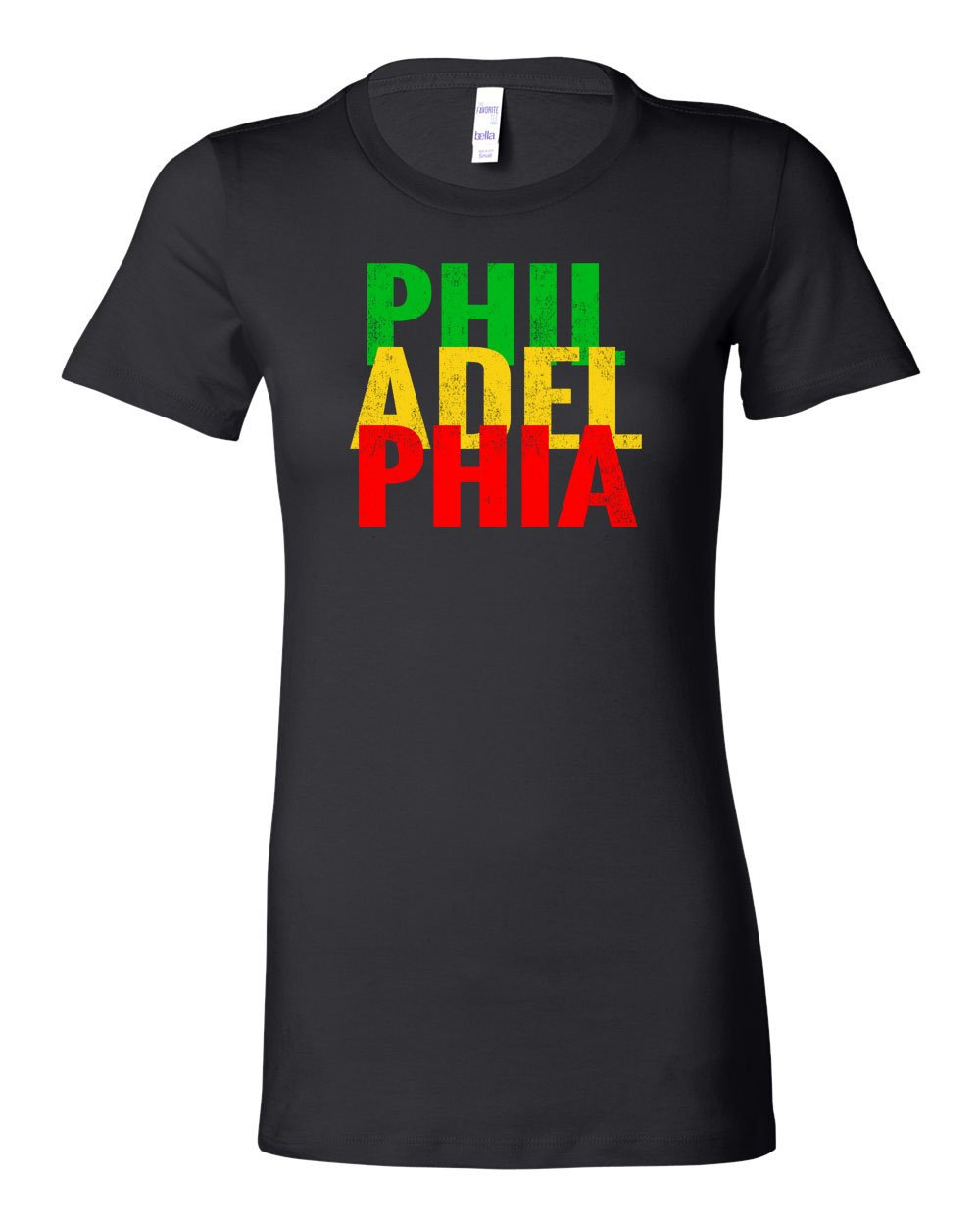 Rasta Philly Letters LADIES Junior-Fit T-Shirt