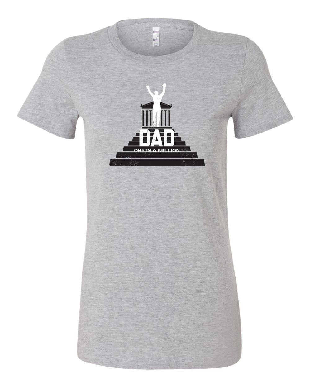 One in a Million Dad LADIES Junior-Fit T-Shirt