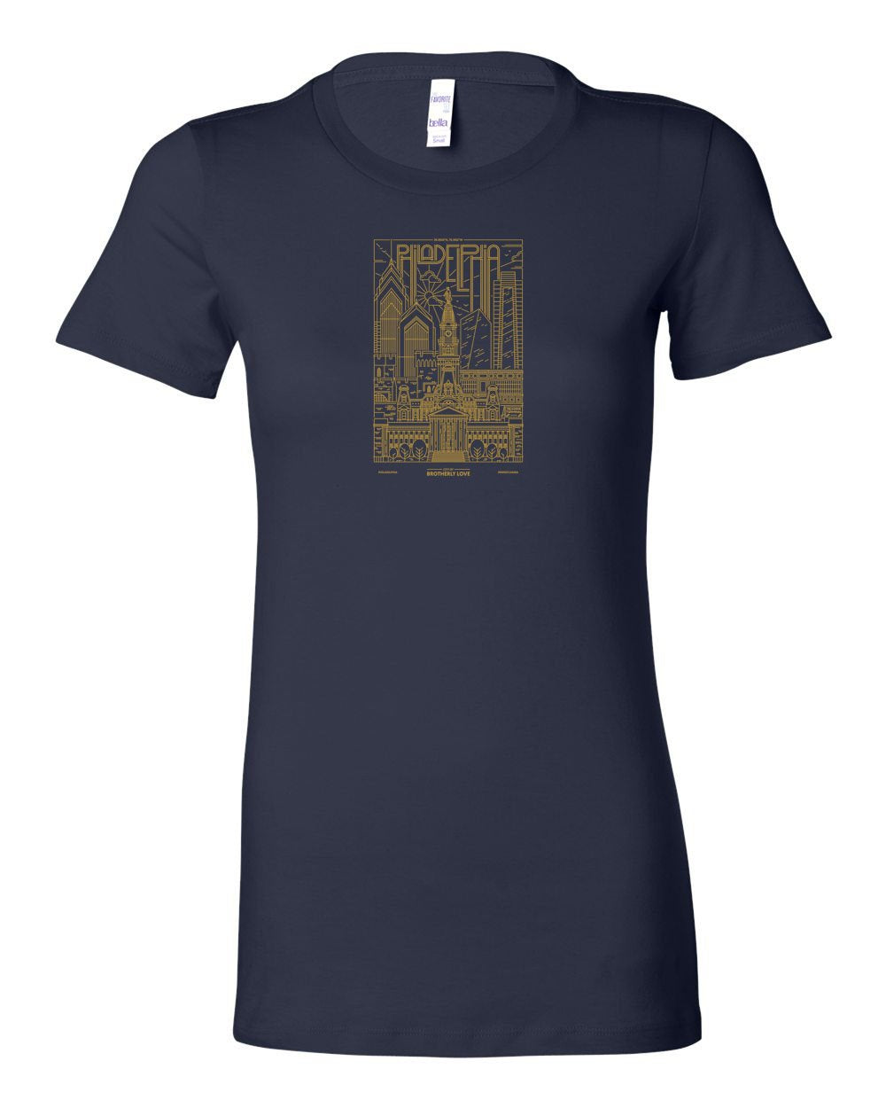 Philadelphia Skyline V2 (Soccer) LADIES Junior-Fit T-Shirt