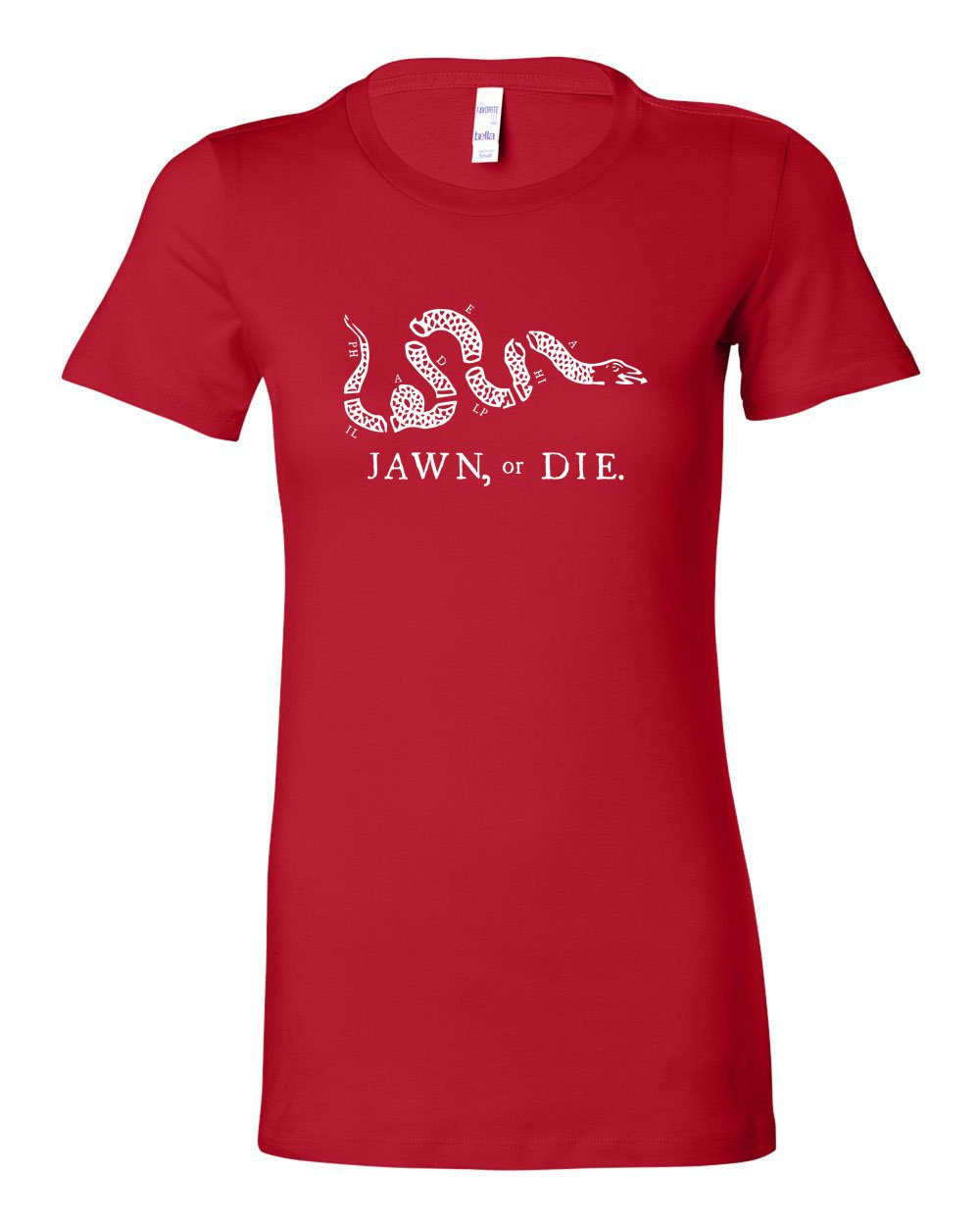 Jawn or Die White Ink (Baseball) LADIES Junior-Fit T-Shirt