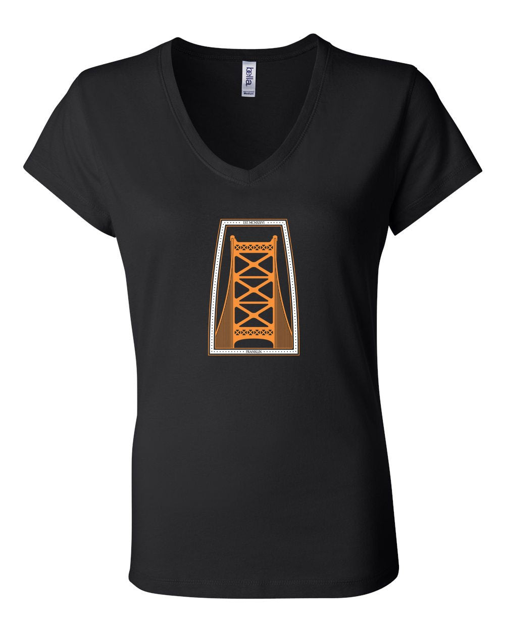Ben Franklin Bridge Hockey LADIES Junior Fit V-Neck