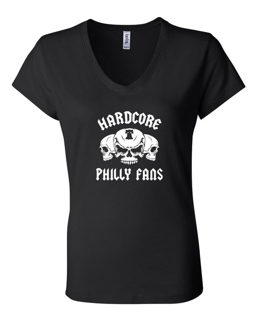 Hardcore Philly Fans LADIES Junior Fit V-Neck