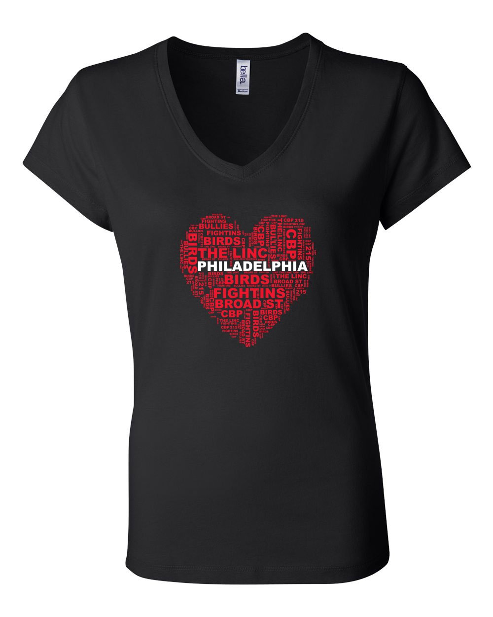 Philly Heart LADIES Junior Fit V-Neck