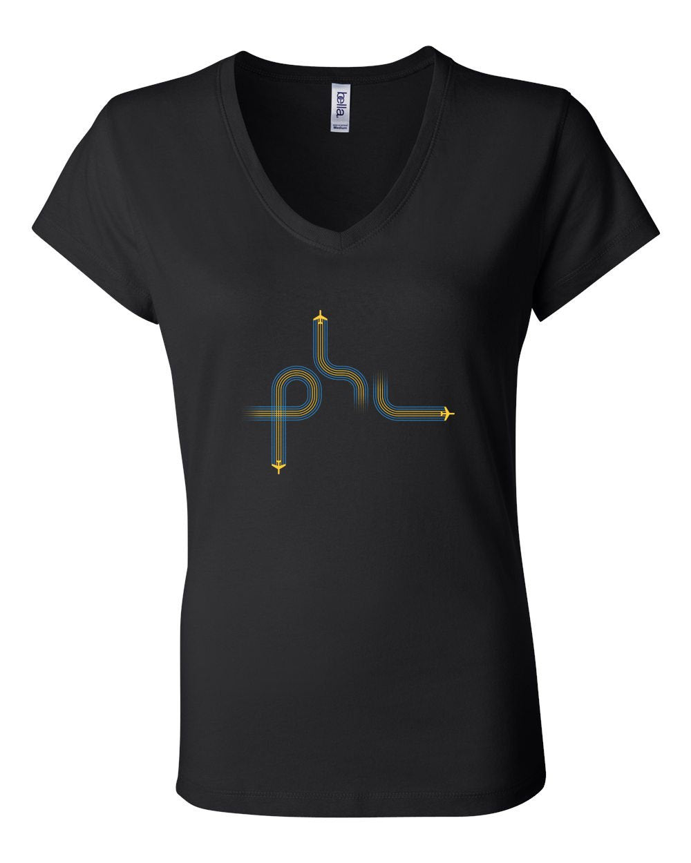 PHL Planes LADIES Junior Fit V-Neck