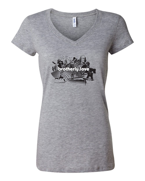 Brotherly Love V1 LADIES Junior Fit V-Neck