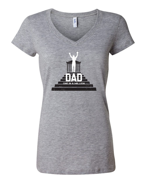 One in a Million Dad LADIES Junior Fit V-Neck