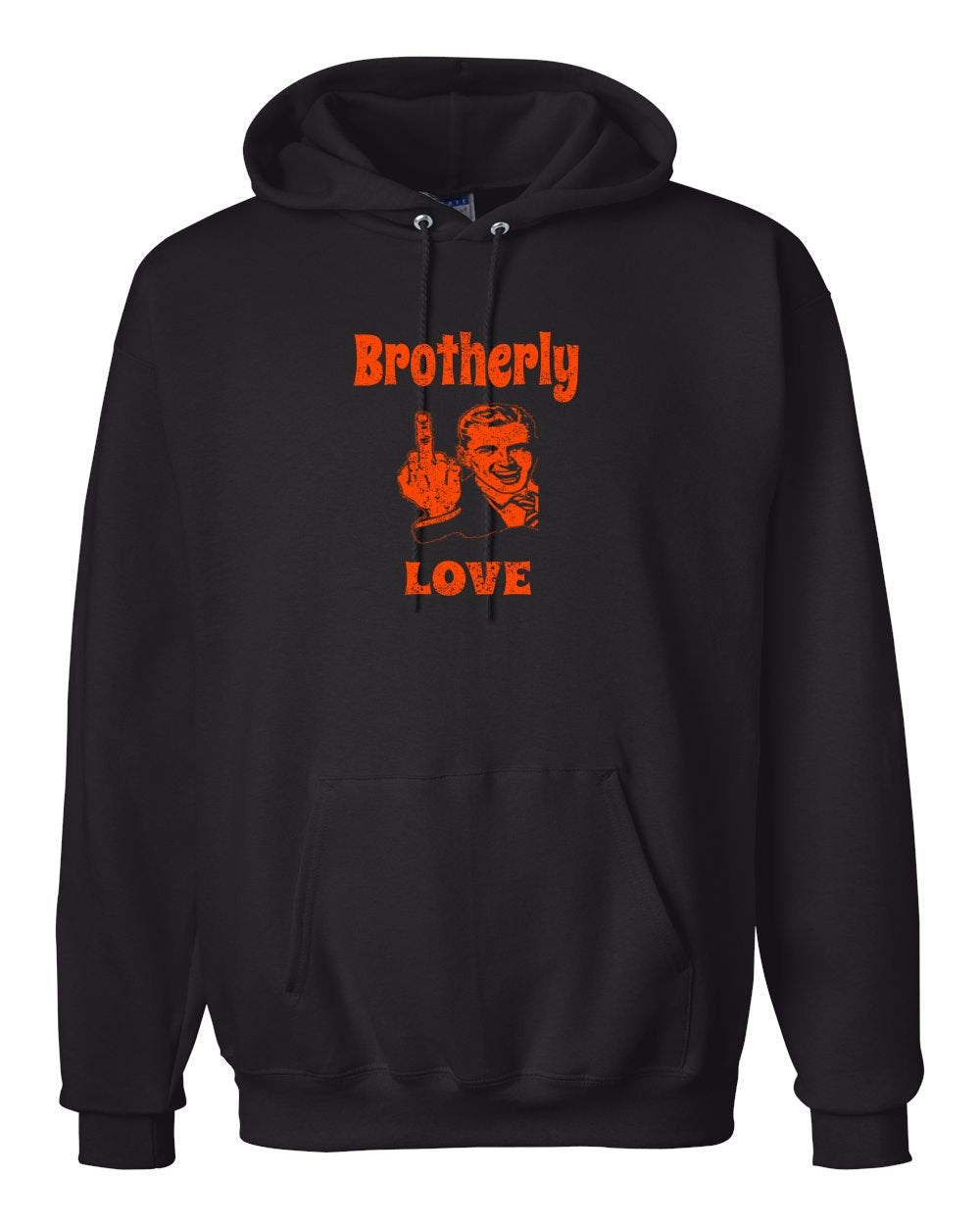 Brotherly Finger Orange Ink Hoodie