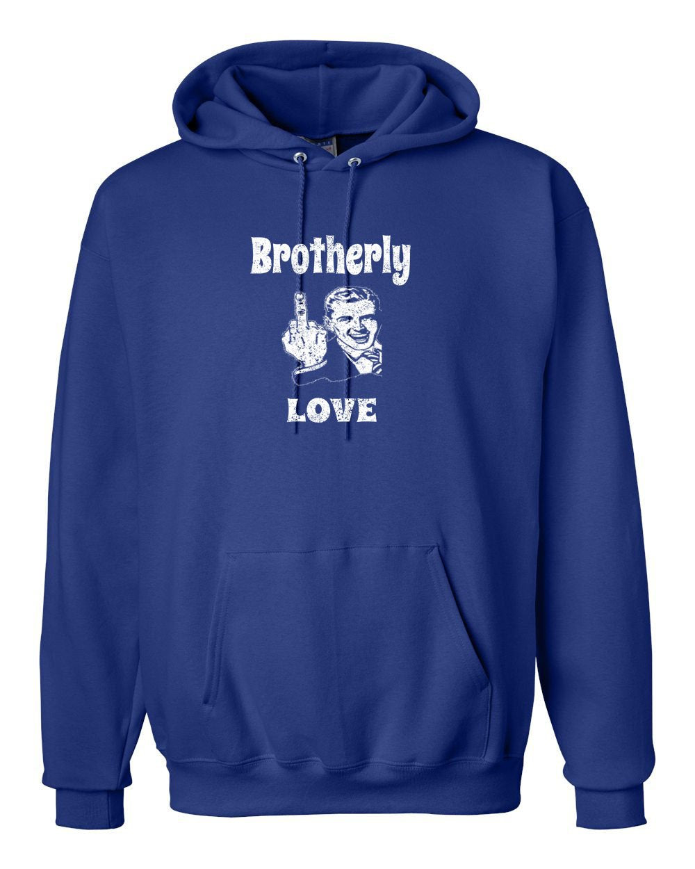 Brotherly Finger White Ink Hoodie