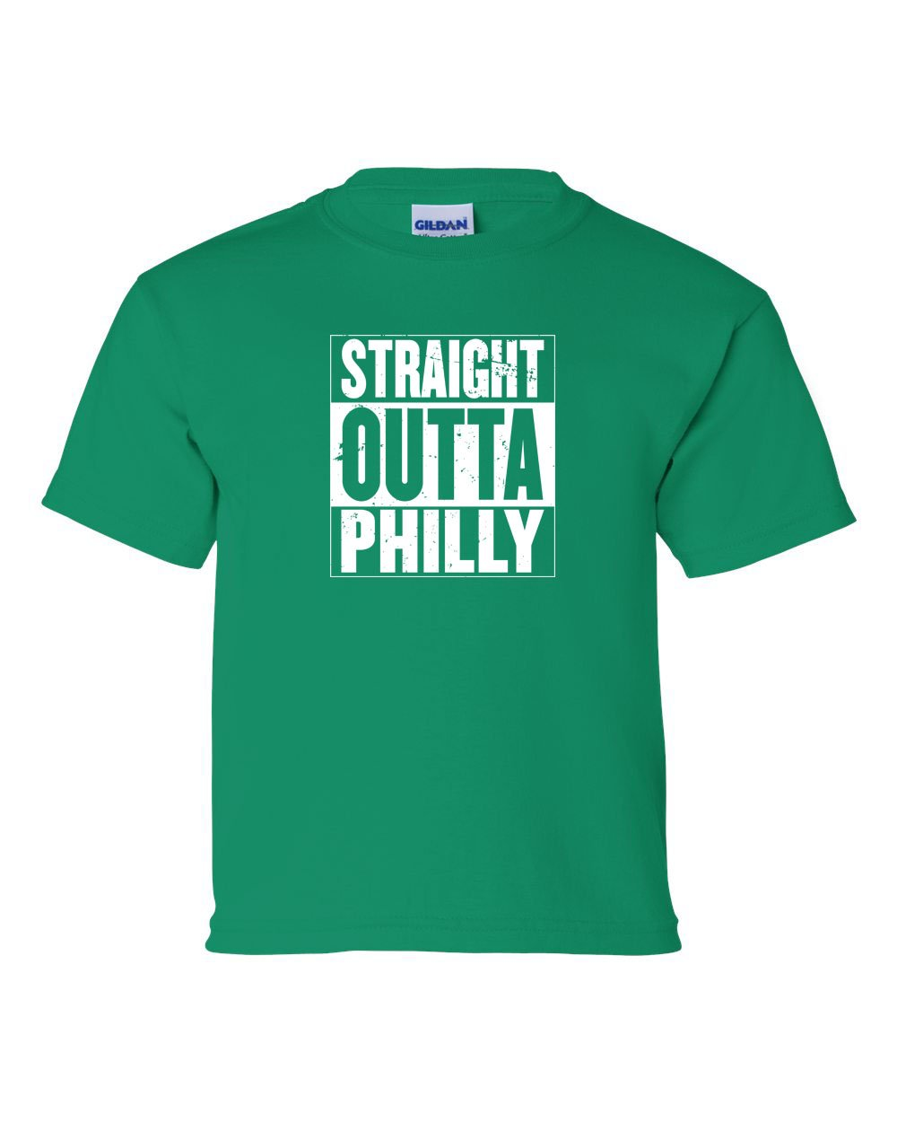 Straight Out of Philly White Ink KIDS T-Shirt