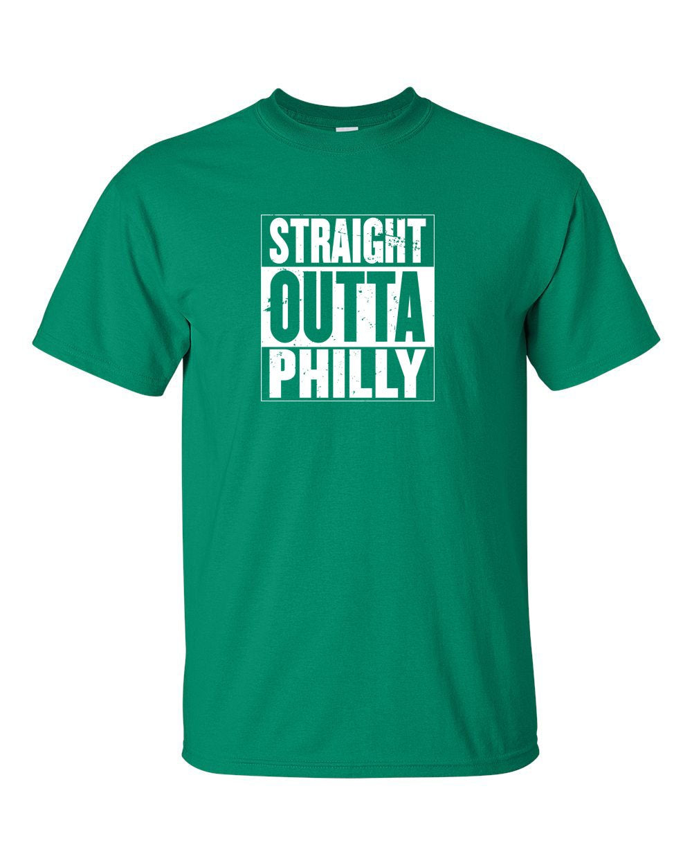 Straight Out of Philly White Ink Mens/Unisex T-Shirt