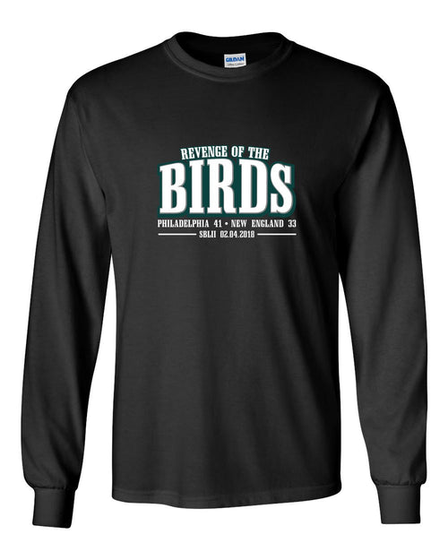 Revenge of the Birds MENS Long Sleeve Heavy Cotton T-Shirt