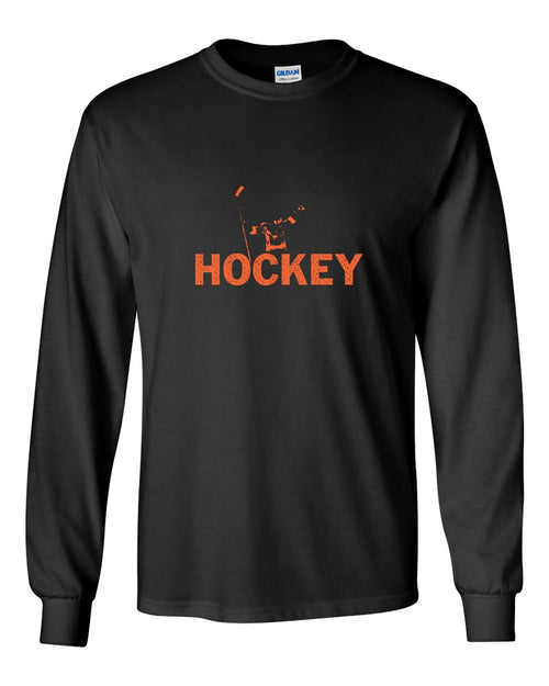 Rocky Hockey MENS Long Sleeve Heavy Cotton T-Shirt