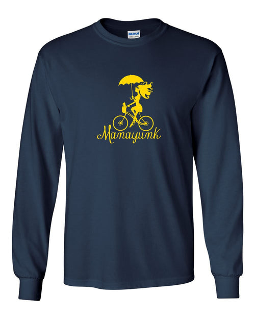 Manayunk Bike MENS Long Sleeve Heavy Cotton T-Shirt