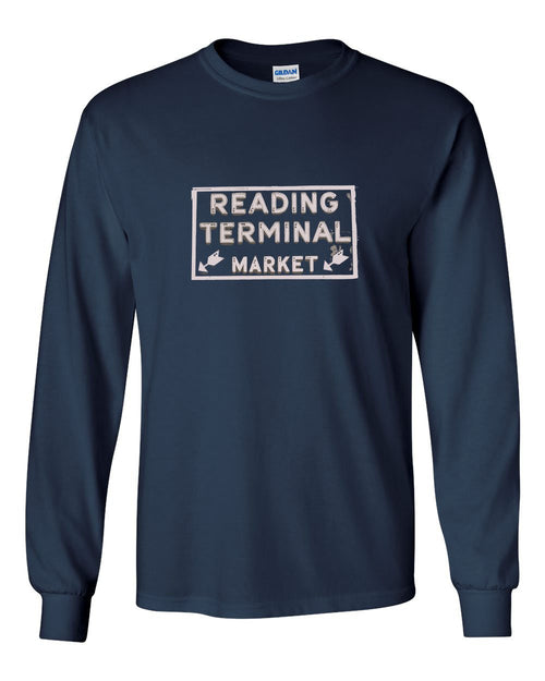 Reading Market MENS Long Sleeve Heavy Cotton T-Shirt