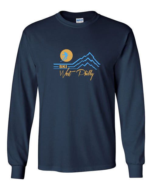 Ski West Philly MENS Long Sleeve Heavy Cotton T-Shirt