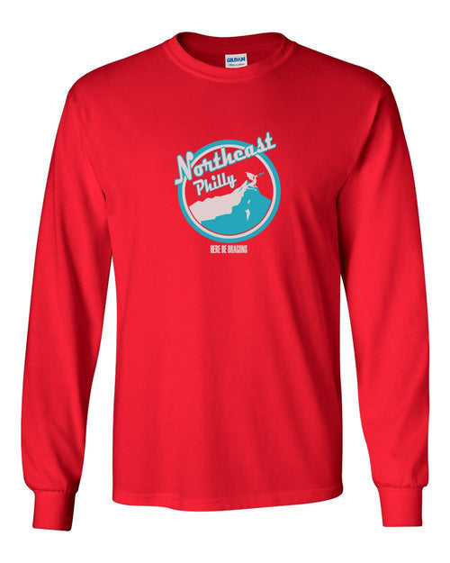 Northeast Philly MENS Long Sleeve Heavy Cotton T-Shirt