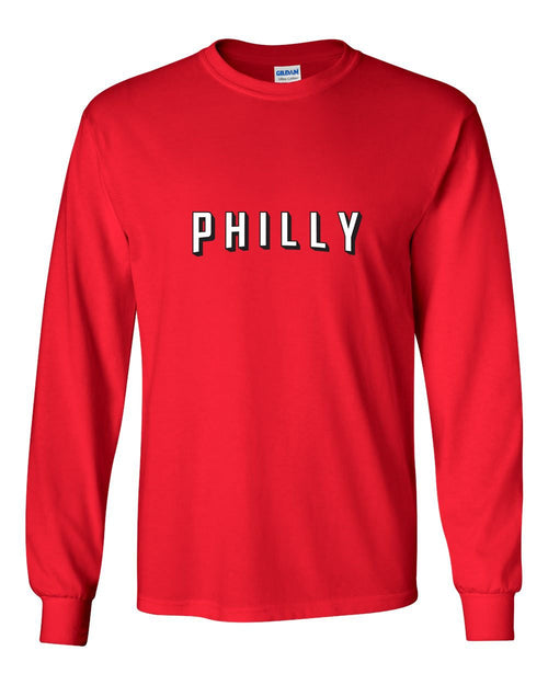 Philly-Flix MENS Long Sleeve Heavy Cotton T-Shirt