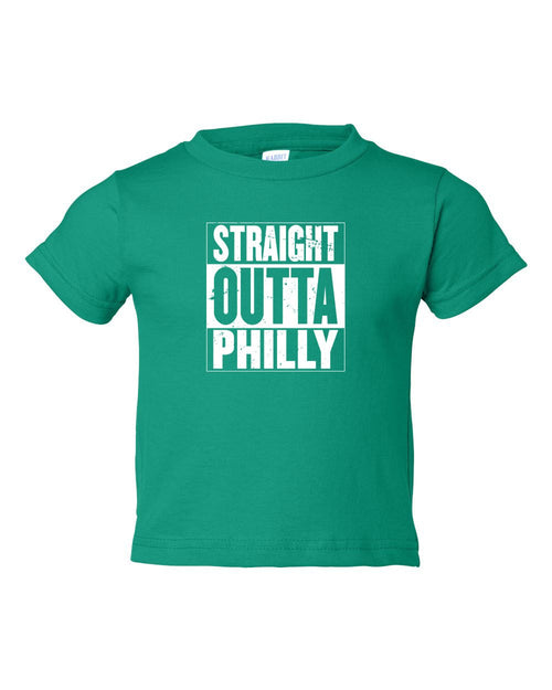 Straight Out of Philly White Ink TODDLER T-Shirt