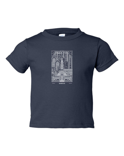 Philly Skyline V2 White Ink TODDLER T-Shirt