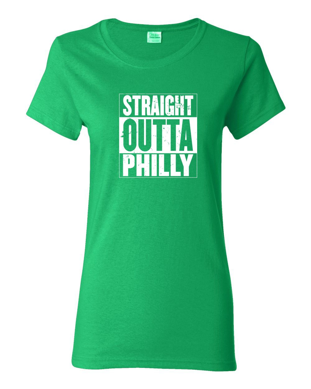 Straight Out of Philly White Ink LADIES Missy-Fit T-Shirt