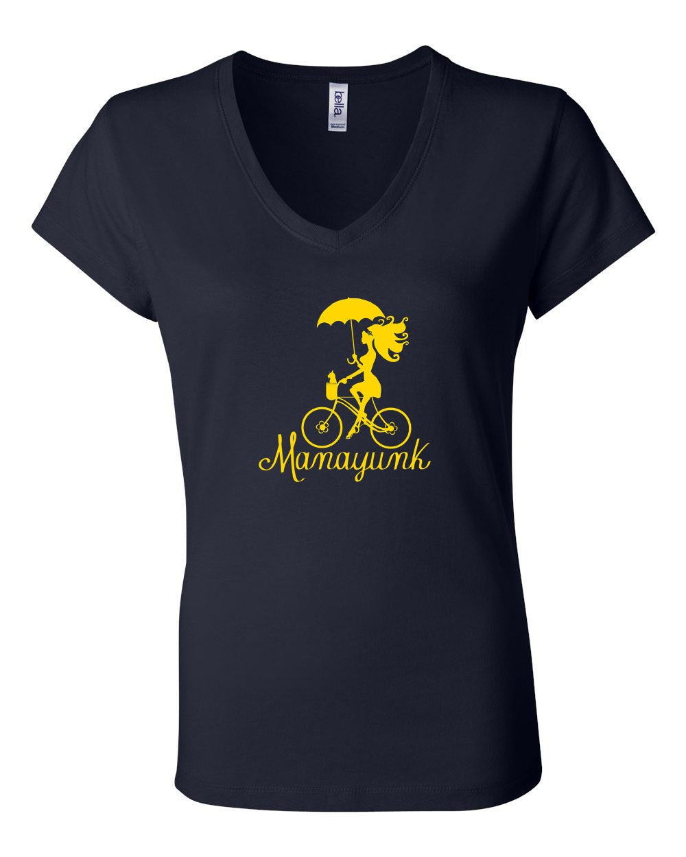 Manayunk Bike LADIES Junior Fit V-Neck