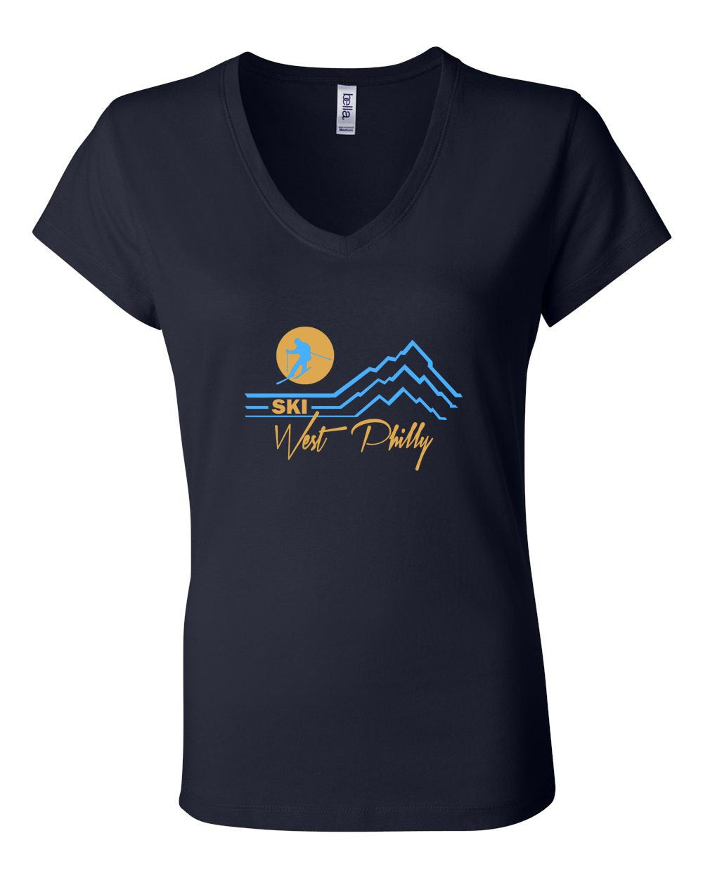 Ski West Philly LADIES Junior Fit V-Neck