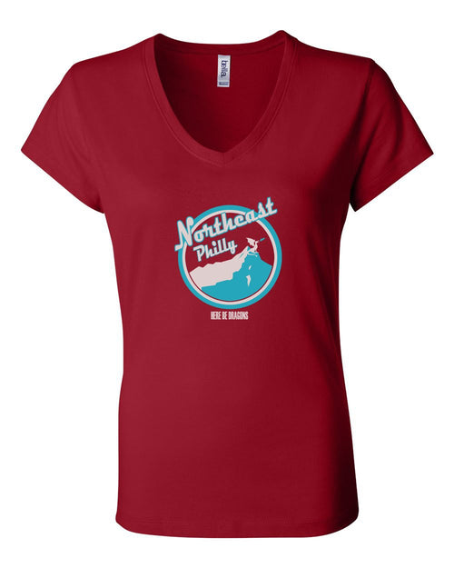 Northeast Philly LADIES Junior Fit V-Neck