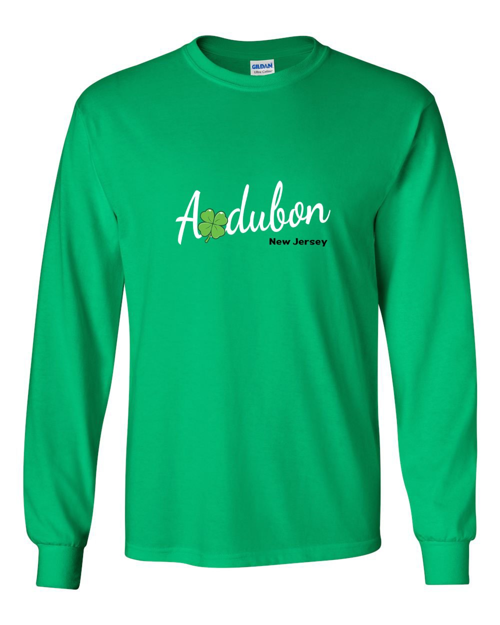 Irish Audubon MENS Long Sleeve Heavy Cotton T-Shirt