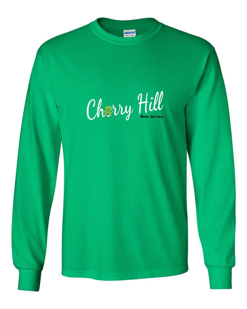 Irish Cherry Hill MENS Long Sleeve Heavy Cotton T-Shirt