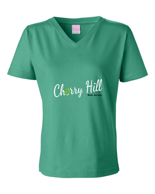 Irish Cherry Hill LADIES Junior Fit V-Neck