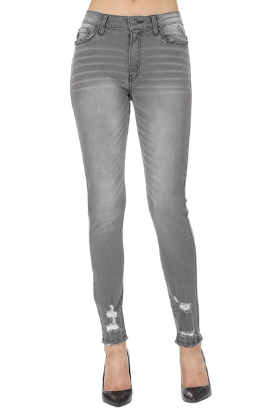 The Grey Distressed Skinny