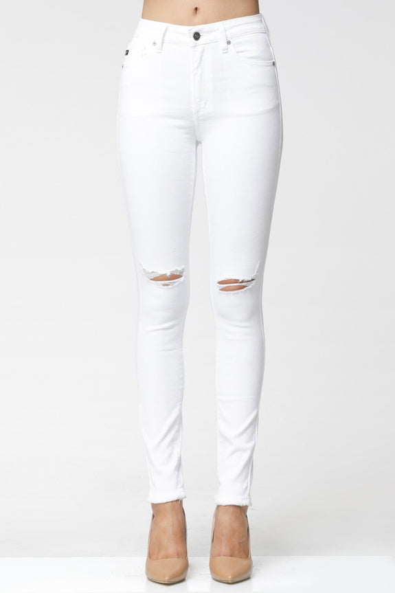 The White Distressed Jean