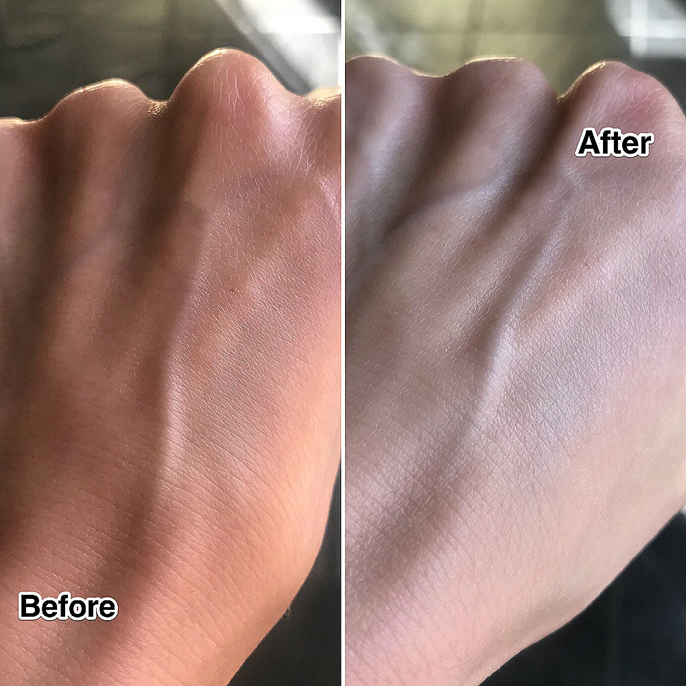 Before and After using Shiseido Elixir White Whitening Tone Up Massage Cream
