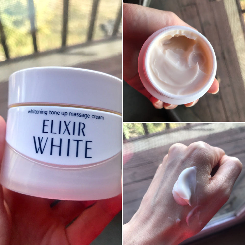 Review on Shiseido Elxir Whitening Tone Up Massge Cream